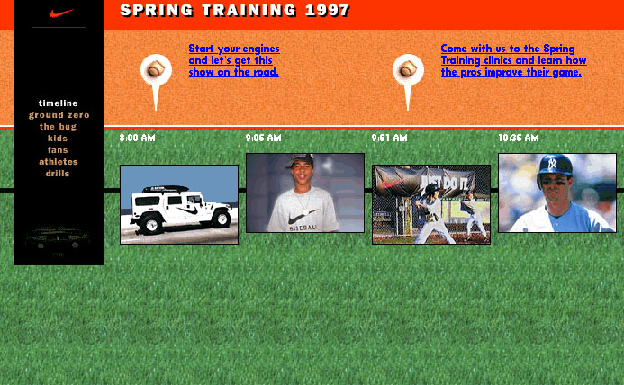 Nike Spring Training Event Website (creative direction)
