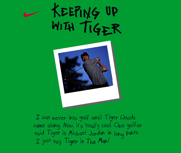 Nike Tiger Woods/US Open Event Website (design)