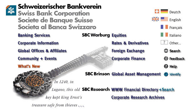 Swissbank Website (design and strategy)