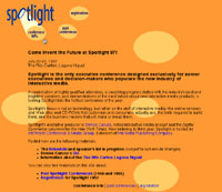 Spotlight Conference Website (design)