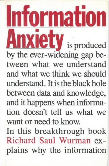 Information Anxiety book (writing and illustrations)