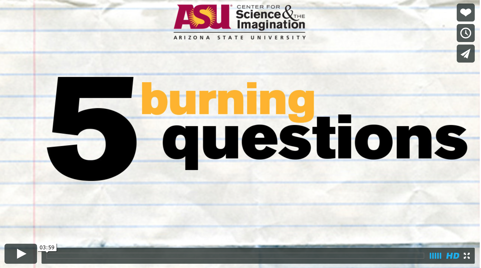 5 Burning Questions (ASU): 2013