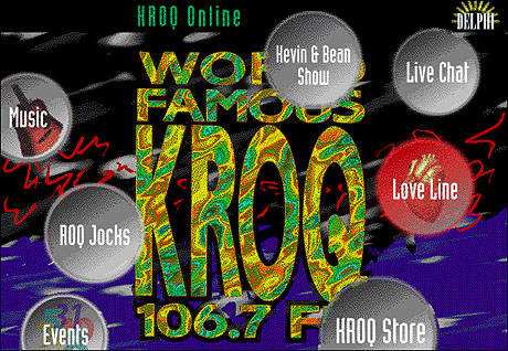 KROQ Online Interface Prototype (design and production)